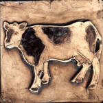 Cow standing 2 brown stain