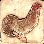 Rooster profile brown