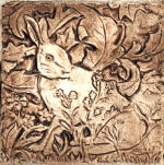 William Morris Hare brown stain tile