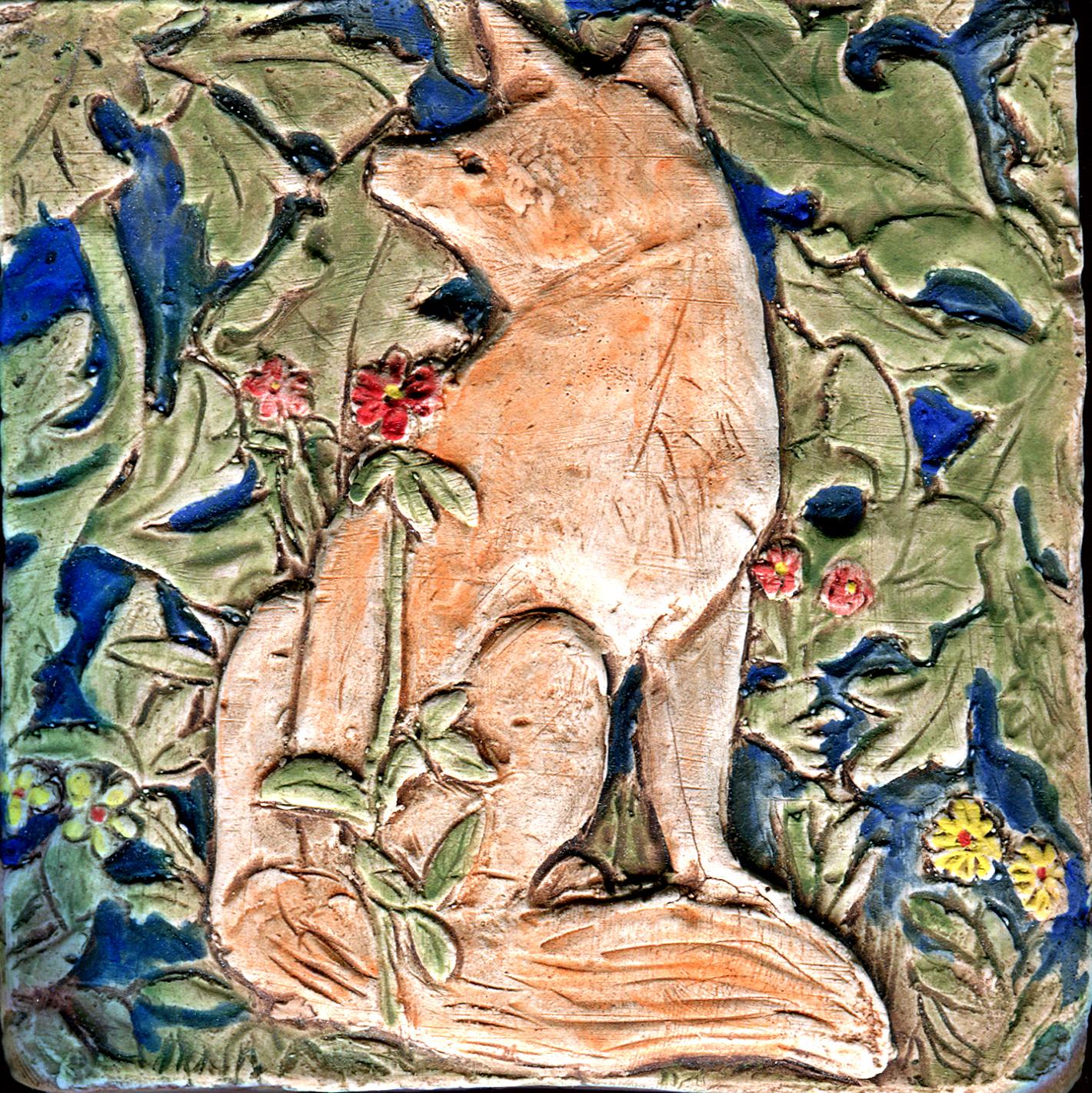 Arts and crafts tiles - William Morris Fox