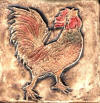 rooster crowing right